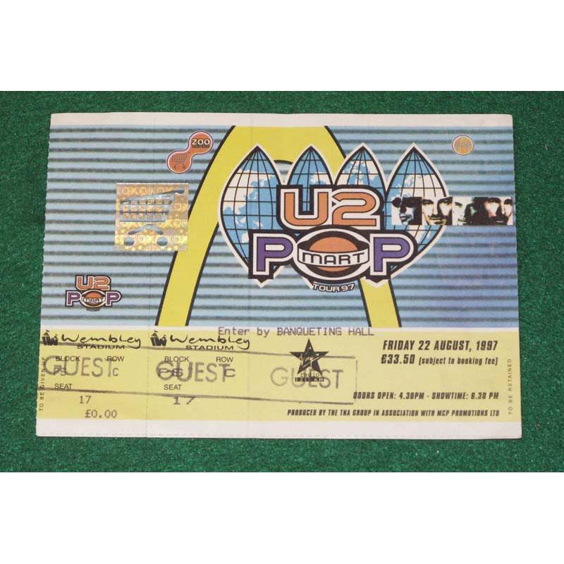 U2 U2 Wembley Guest Ticket 1993 '97 Ticket