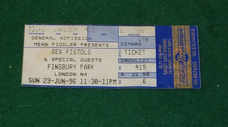 Sex Pistols Ticket 13
