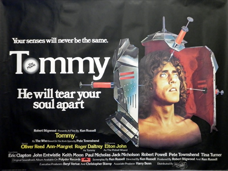 The Who The Who Tommy Quad Cinema Poster '1975 Poster