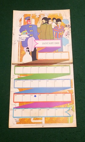 Calendar 1969.The Beatles Beatles Yellow Submarine Calendar 1969 1968 Other