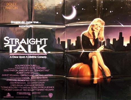 Dolly Parton Straight Talk Dolly Parton Cinema Poster