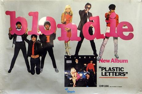 blondie blondie plastic letters lp poster 1978 1978 poster