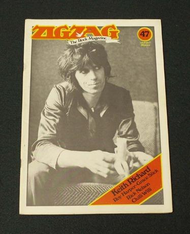 The Rolling Stones Keith Richards ZIGZAG Magazine '1974 Magazine