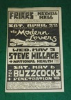 Buzzcocks Penetration Friars Flyer 1978