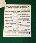 Led Zeppelin Pink Floyd Bath Flyer etc 1970